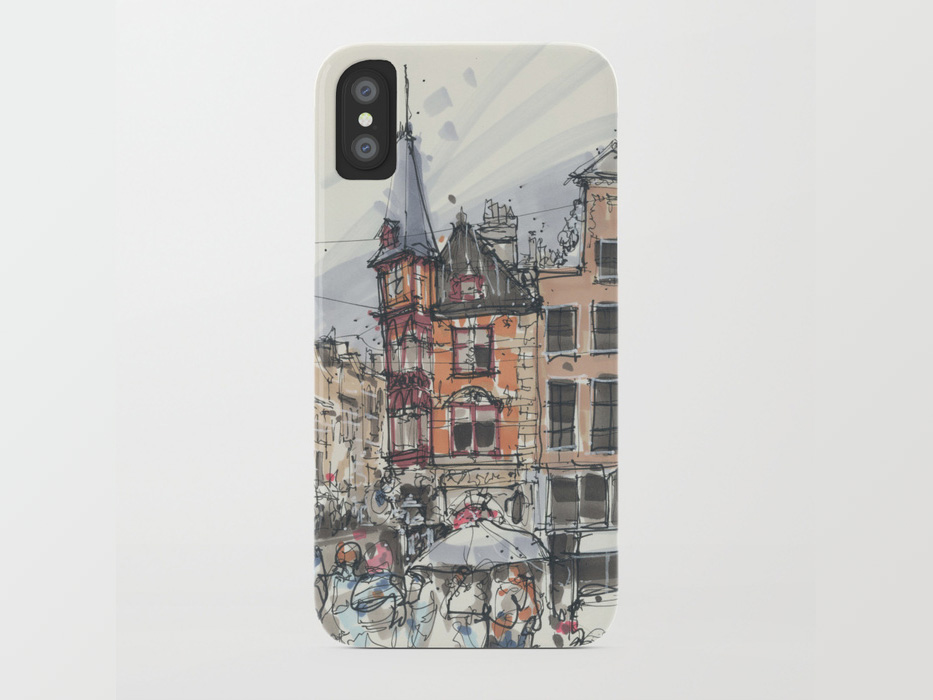 House sketches smartphone cover